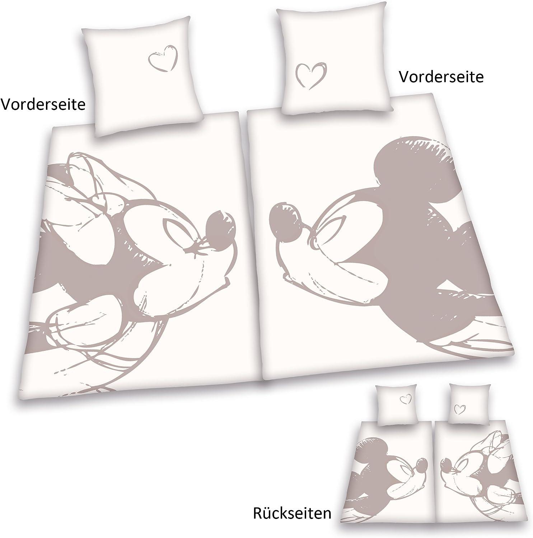 King-Size-Bett Kinder-Bettw/äsche-Set Bettbezug f/ür Jungen und M/ädchen f/ür Einzelbett Geschenk YZHY Disney Mickey Minnie Bettbezug Doppelbett Disney Frohe Weihnachten A,140 x 210 Mikrofaser