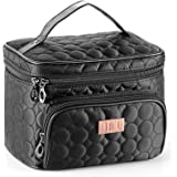 DRQ Travel Makeup Bag with Mirror-Multifunction Portable Toiletry Bag Large Cosmetic Make up Pouch Organizer for Women…