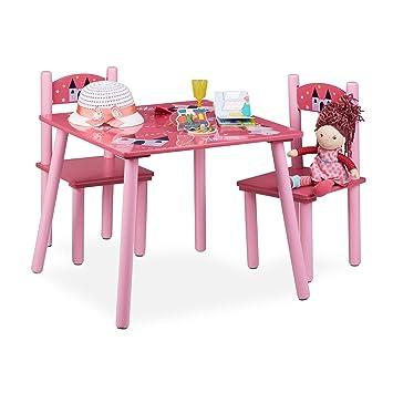 Relaxdays Ensemble Table Et Chaises Chambre Denfants En Bois FUNNY 1 2