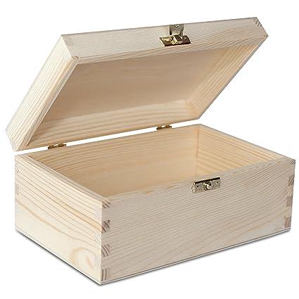Creative Deco Pequeña Caja Madera para Decorar | 21.4 x 13.8 x 10 cm | con