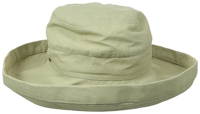 4a5d7d0b Scala Womens Cotton Big Brim hat with Inner Drawstring & UPF 50+ ...