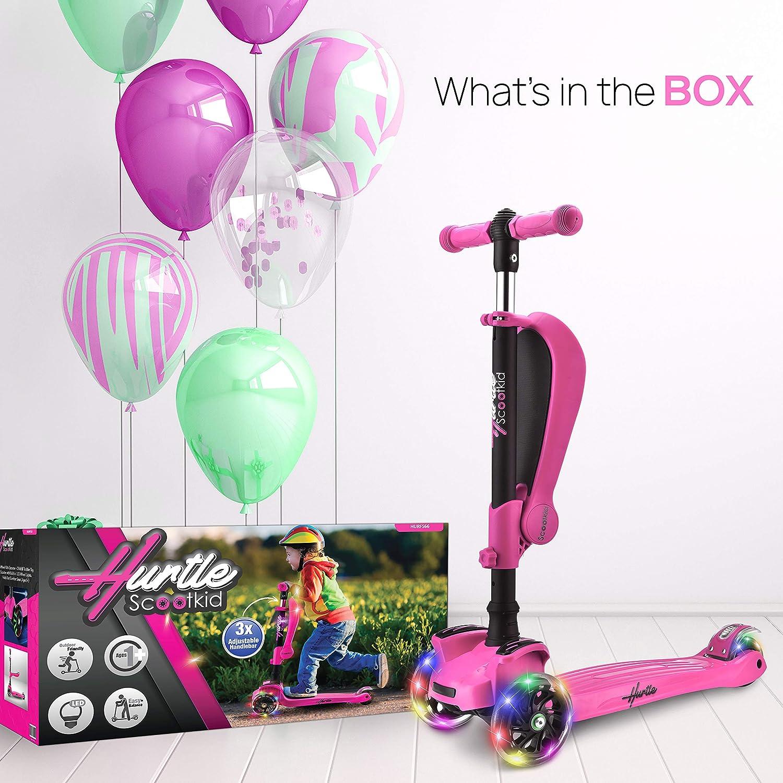 Amazon.com: Hurtle Patinete de 3 ruedas para niños – 2 en 1 ...