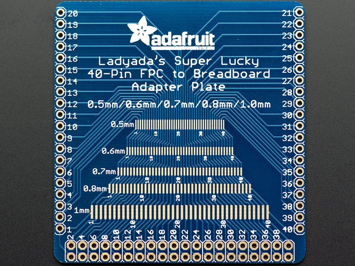 Adafruit 1436 Multi-pitch FPC Adapter - 40 Pin 0.5/0.6/0.7/0