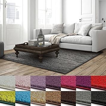 Teppich fur wohnzimmer  Shaggy Teppich Barcelona | weicher Hochflor Teppich für Wohnzimmer ...