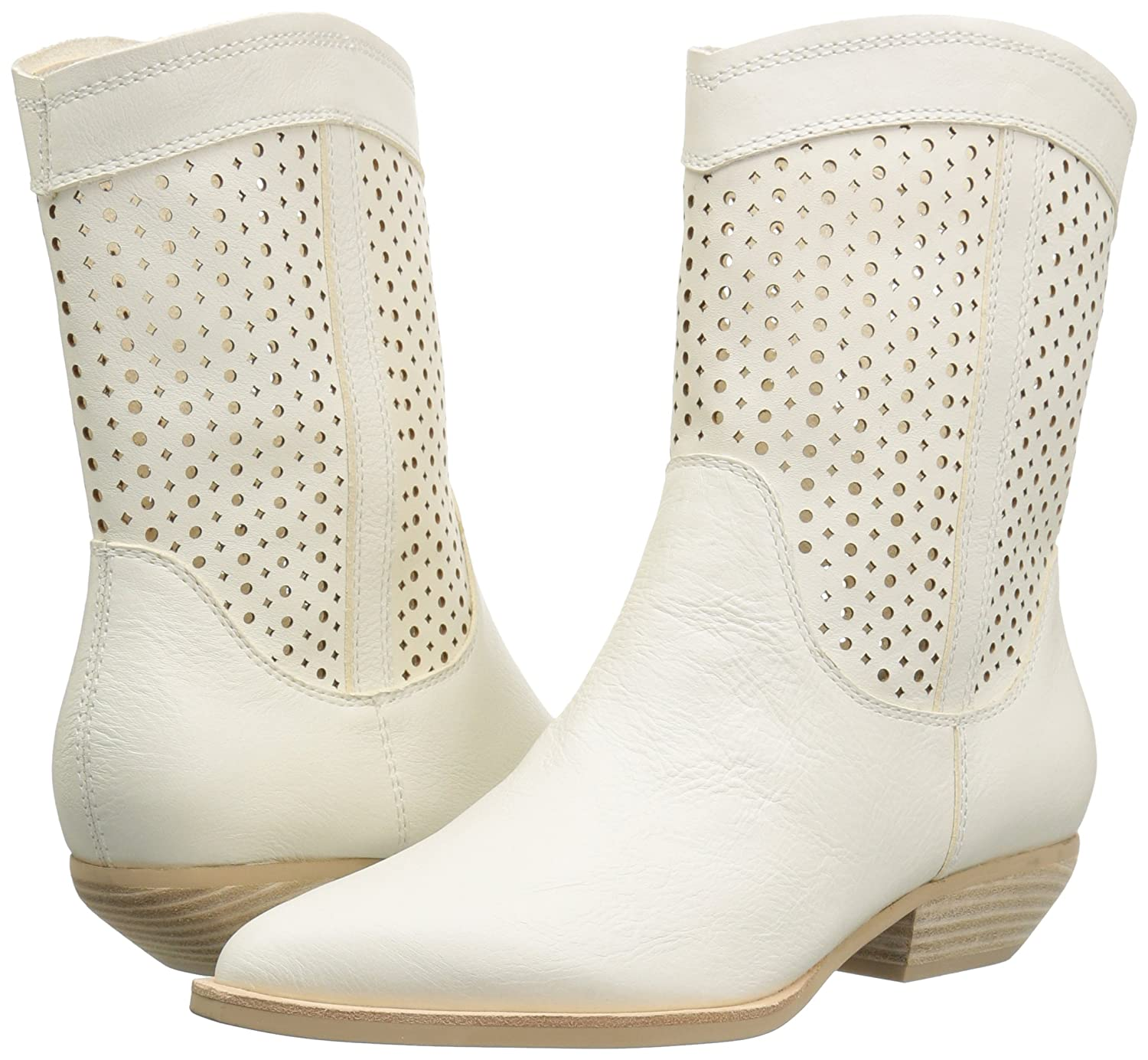Dolce Vita Women's Union Fashion Boot B07B9M8JHQ 7.5 B(M) US|Off White Leather