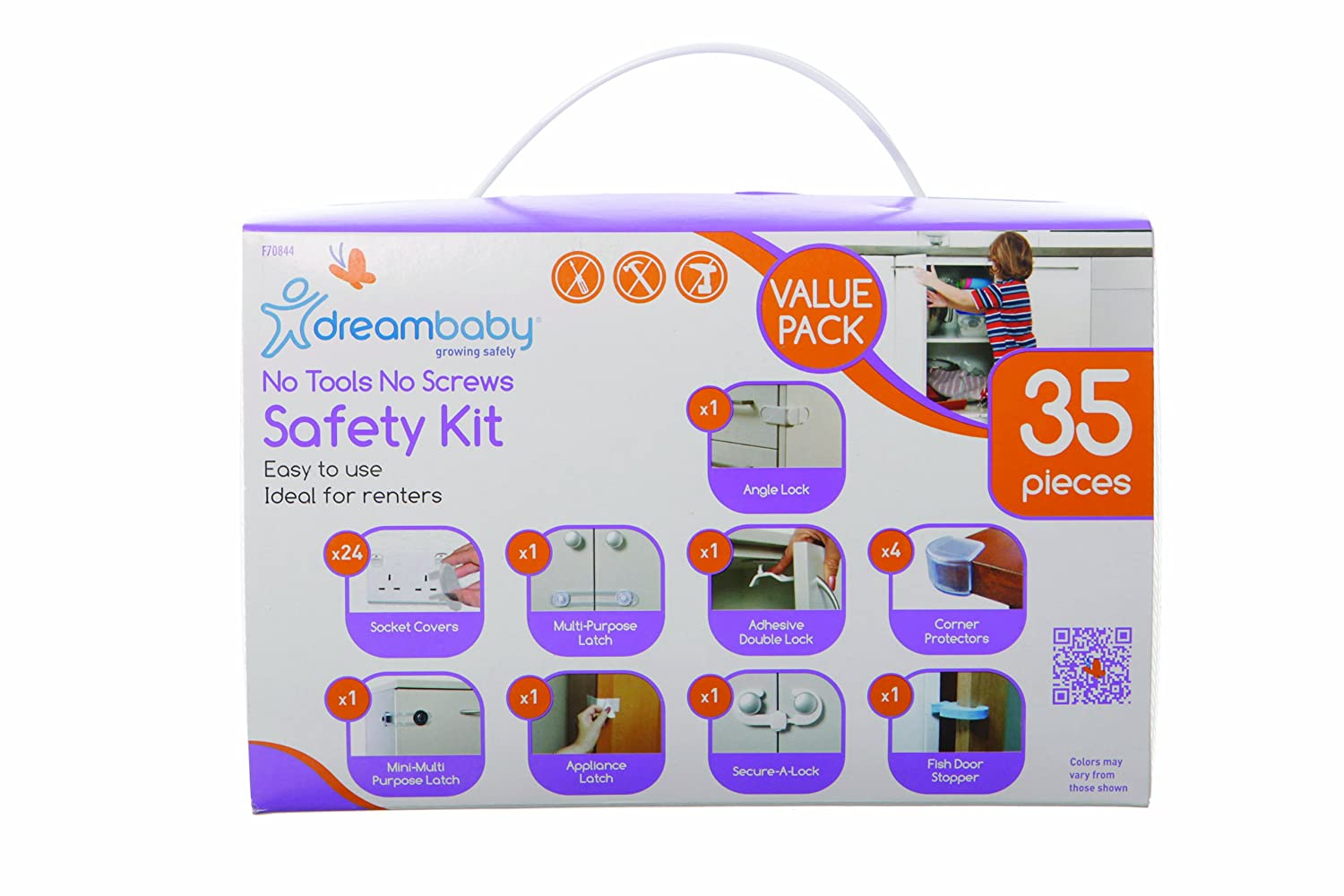 White, 35 Pieces Value Pack 35pcs Dreambaby No Tools No Screws Safety Kit Uk