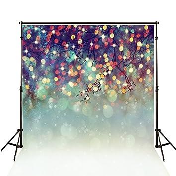 Amazon.com: fondos de Navidad para fotografía 8 x 10 Bokeh ...