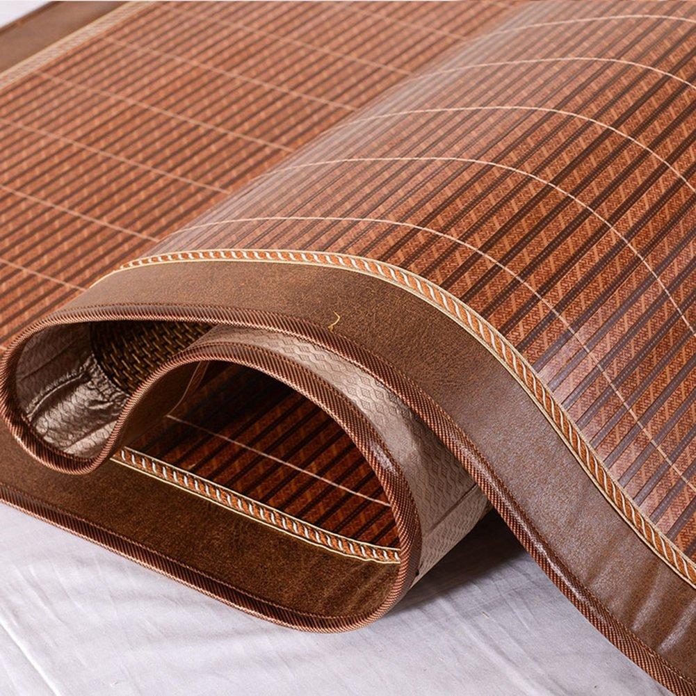 Rui Peng 夏の眠るマット、折られた両面2人の家の竹の畳とアイスシルクの枕カバー (Size : 1.5×1.95m) B07SX8Q99F  1.5×1.95m