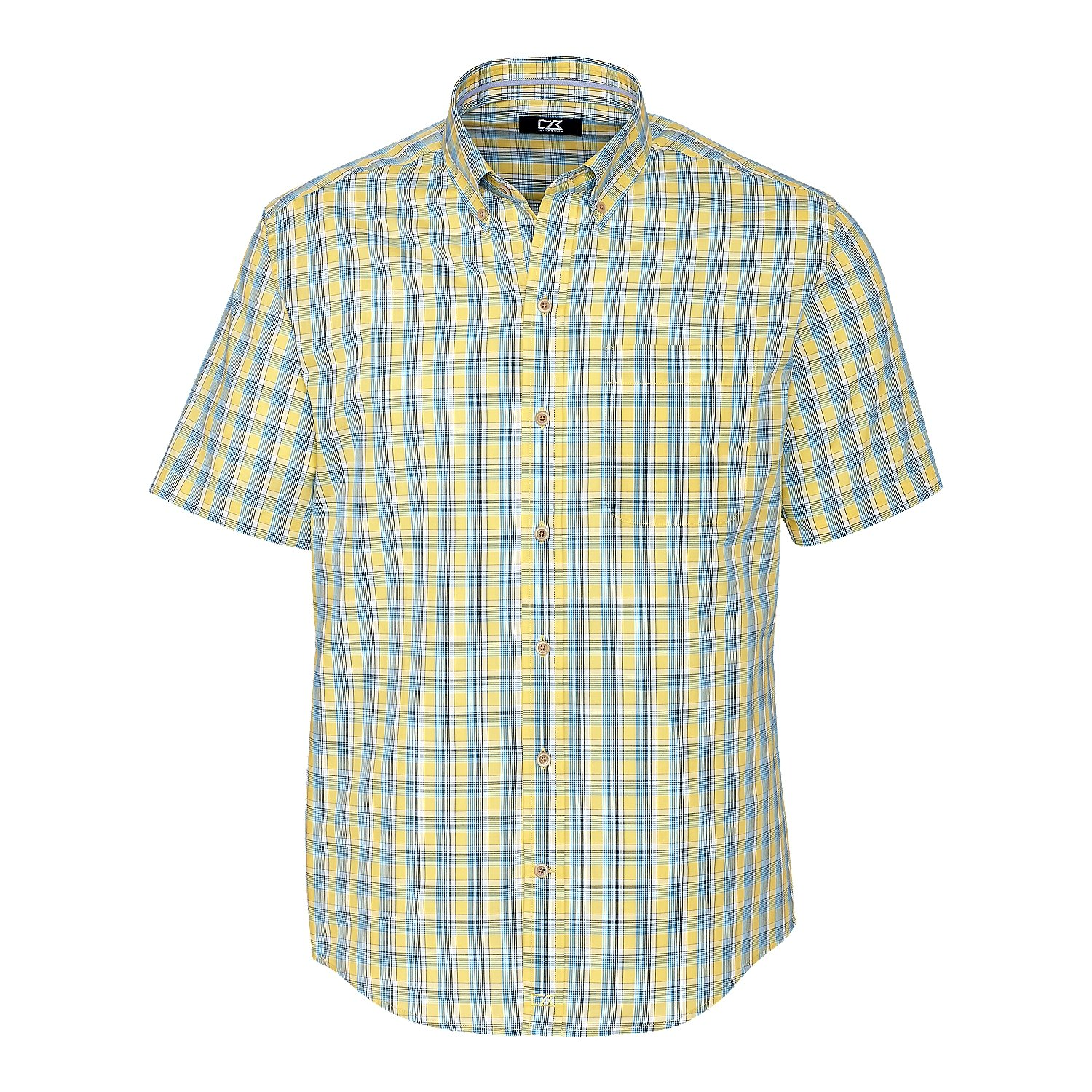 Cutter & Buck BCW09555 Boys' Short Sleeve Wrinkle Free Luis Rey Check, Multi-3XB