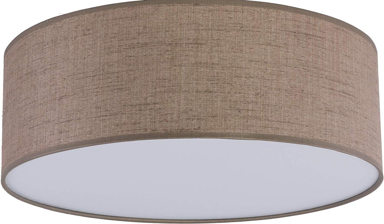 Tischlampe Stoff Schwarz Lampengestell Metall E27 Beistelltisch Beleuchtung