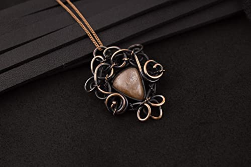 Amazon Com Autumn Birthday Gift Wire Wrapped Necklace Copper