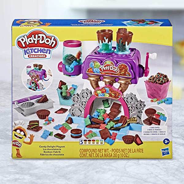 Play-Doh Kitchen Creations Candy Delight Playset compound mold toy for kids