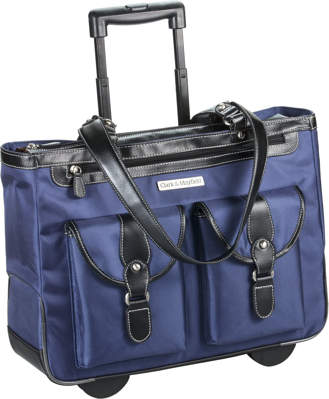 "Marquam Rolling Laptop Tote 18.4"" (Navy Blue)"