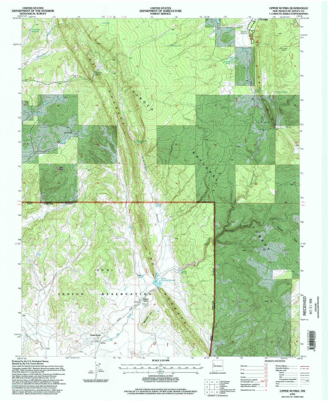 Amazoncom Yellowmaps Upper Nutria Nm Topo Map 124000 Scale 75