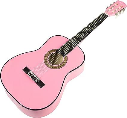 Music Alley MA-34-PNK - Guitarra acústica, color rosa: Amazon.es ...