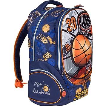 MB All Star – niños mochila Bolsa de Escuela Primaria Libro para niños con  3d baloncesto f9ce324a785da