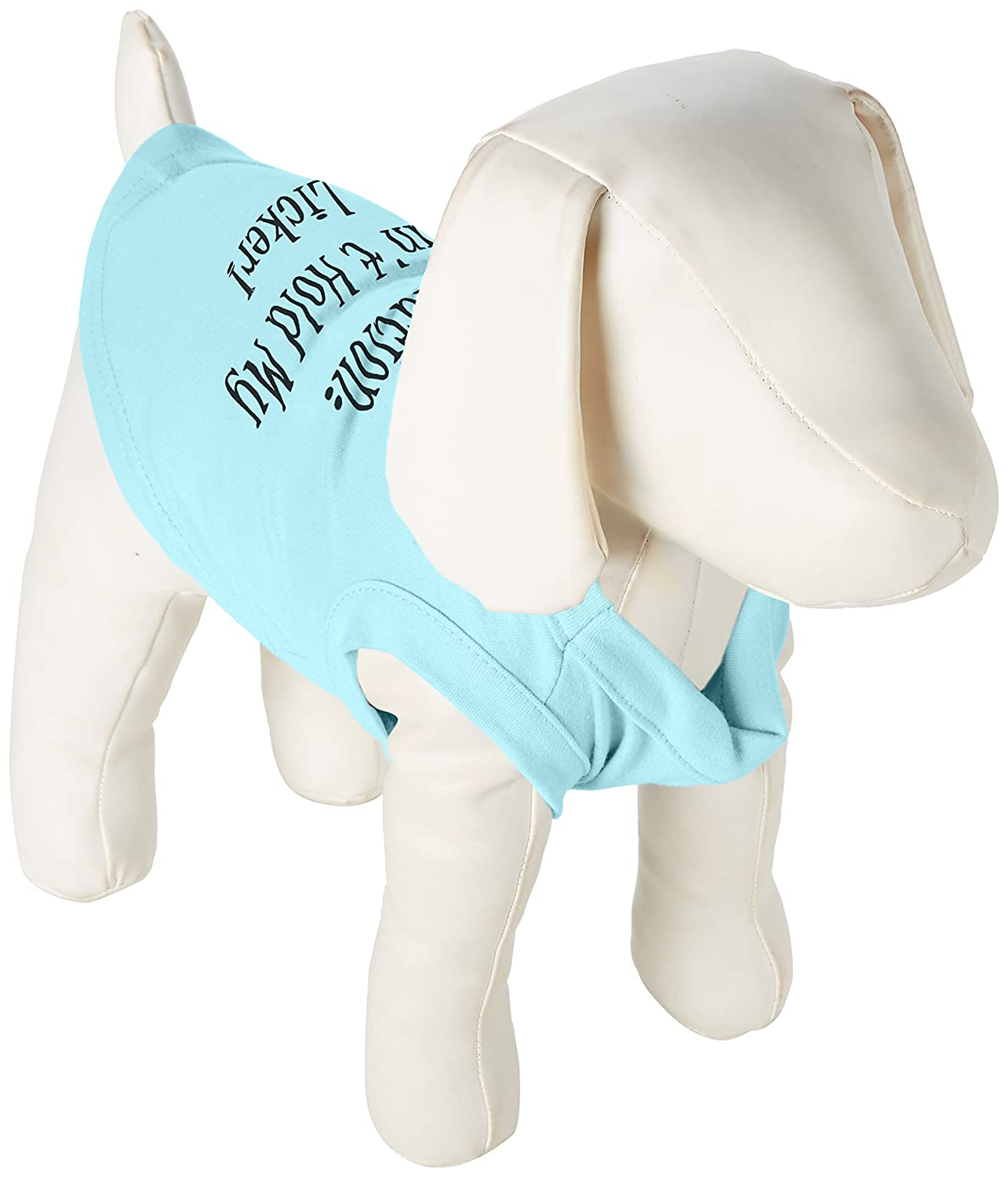 Mirage Pet Products 8-Inch Can't Hold My Licker Screen Print Shirts for Pets, X-Small, Aqua
