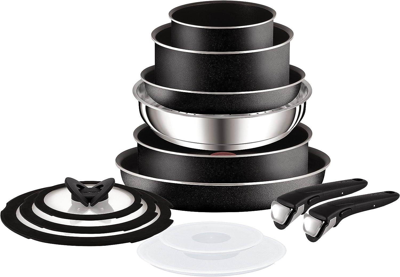 Amazon Com Tefal Ingenio Essential Complete 13 Piece Set Black Home Kitchen