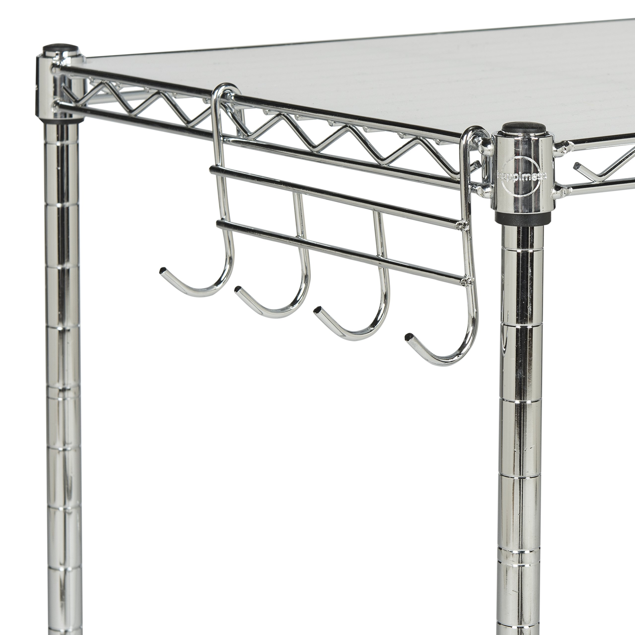 happimess HPM5013A Racking, 19.69 in. W x 11.81 in. D x 23.62 in. H, Silver by happimess (Image #5)