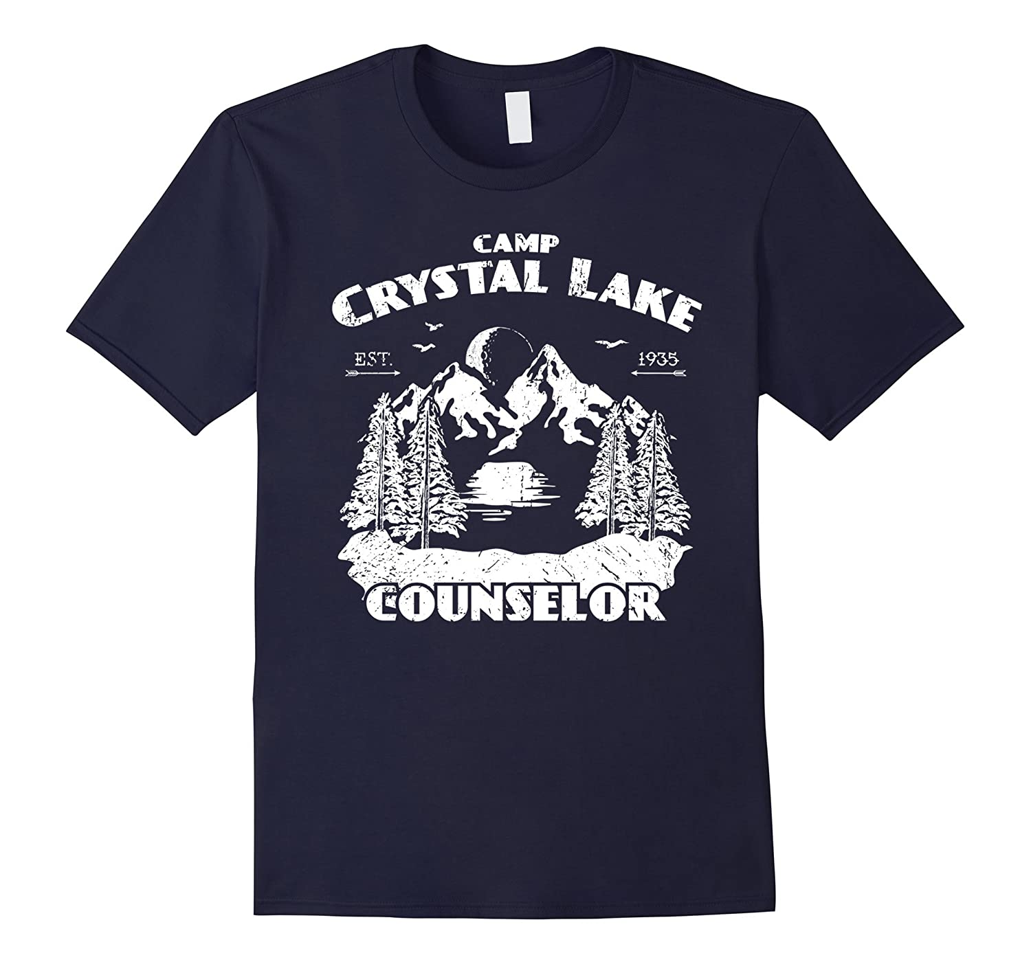 Camp Camping Crystal Lake Counselor Vintage Gift T-Shirt-T-Shirt