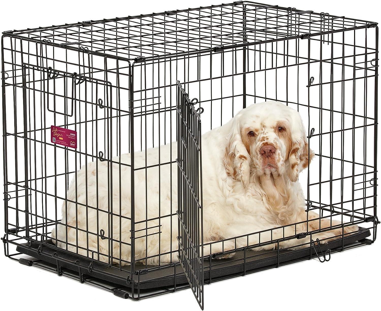 Alta calidad Luxus Perros jaula 77 x 49,5 x 54 cm caja de transporte transporte jaula plegable para perros jaula perro negro: Amazon.es: Productos para mascotas