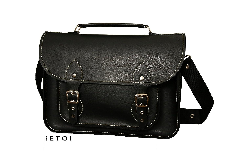 Faux black leather, Laptop bag, satchel, messenger bag, Macbook Pro,Custom size Laptop bag, case, faux leather straps