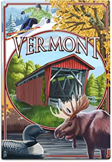 product image for Lantern Press Vermont Scenes 33557 (6x9 Aluminum Wall Sign, Wall Decor Ready to Hang)