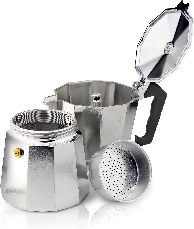 Cafe Ole ECM-06 Italian Style Aluminium Espresso Coffee Maker 240ml 6 Cup