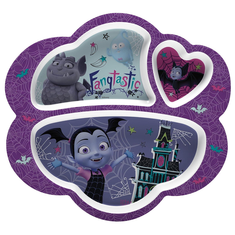 Zak Designs VMPA-0010 Disney Jr. Kids Divided Plates, 8.6