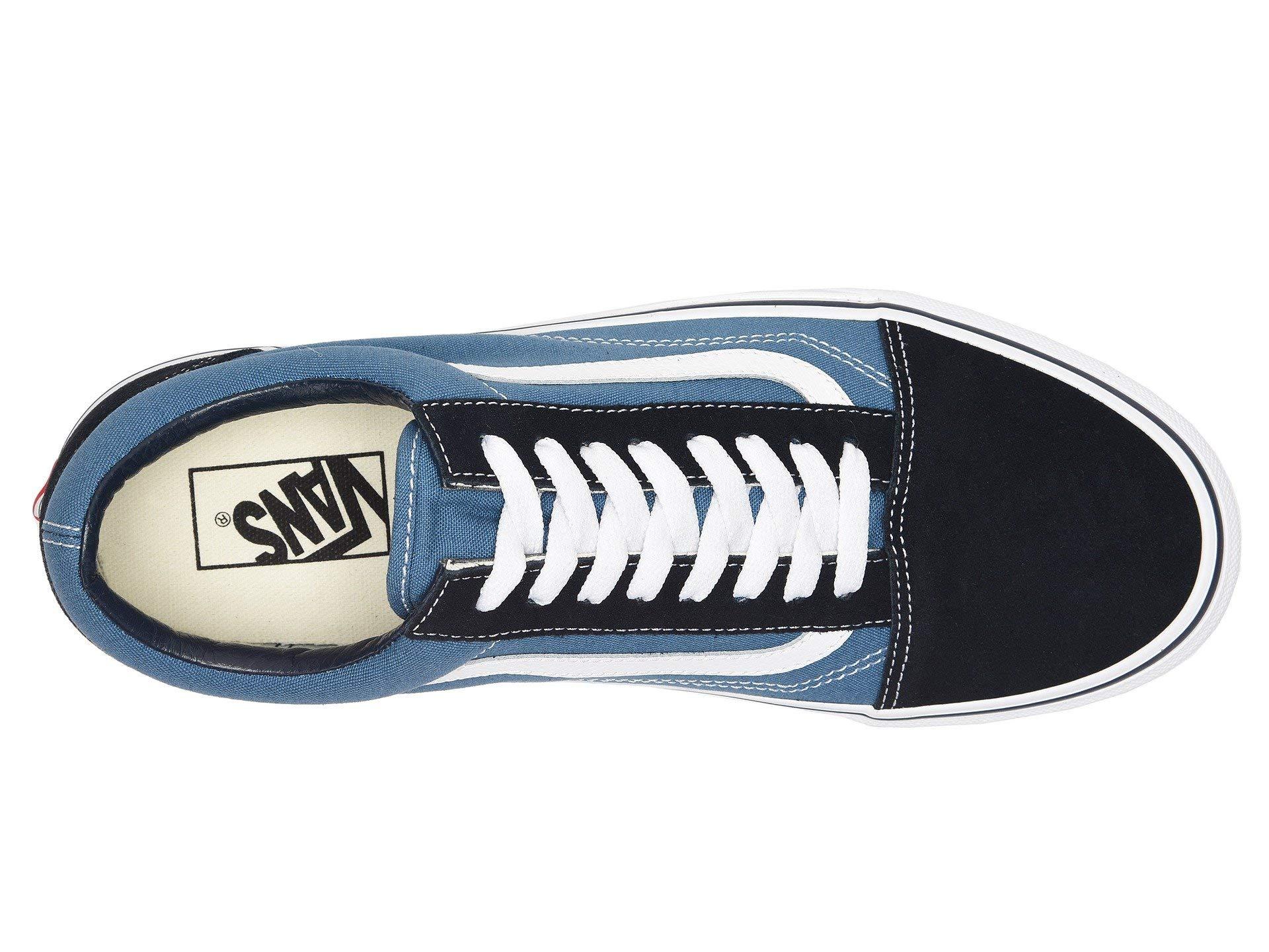 Vans Off The Wall Old Skool Sneakers (Navy) Men's Skateboarding Shoes by Vans (Image #2)