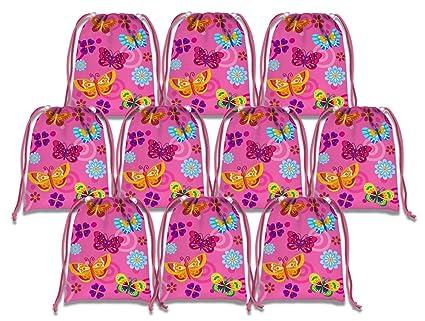 Amazon.com: Caprichoso mariposa de color rosa bolsas de ...