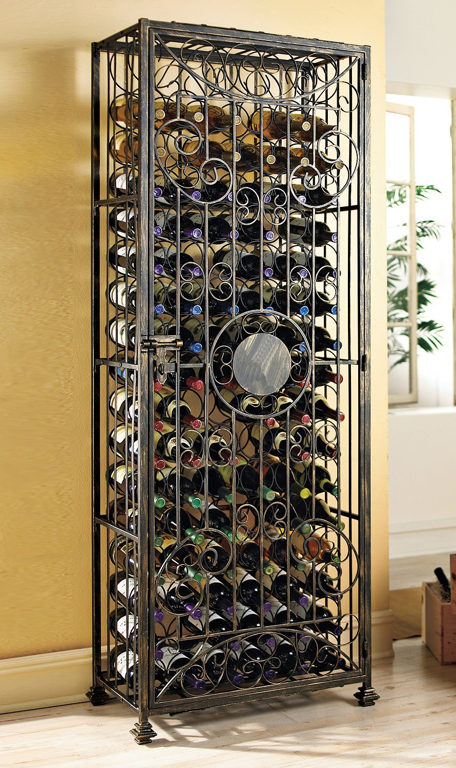 in wrought rod widely iron used rack cellars racks canada metal wine