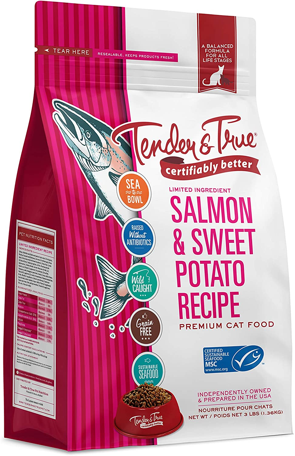 Tender & True Salmon & Sweet Potato Recipe Cat Food