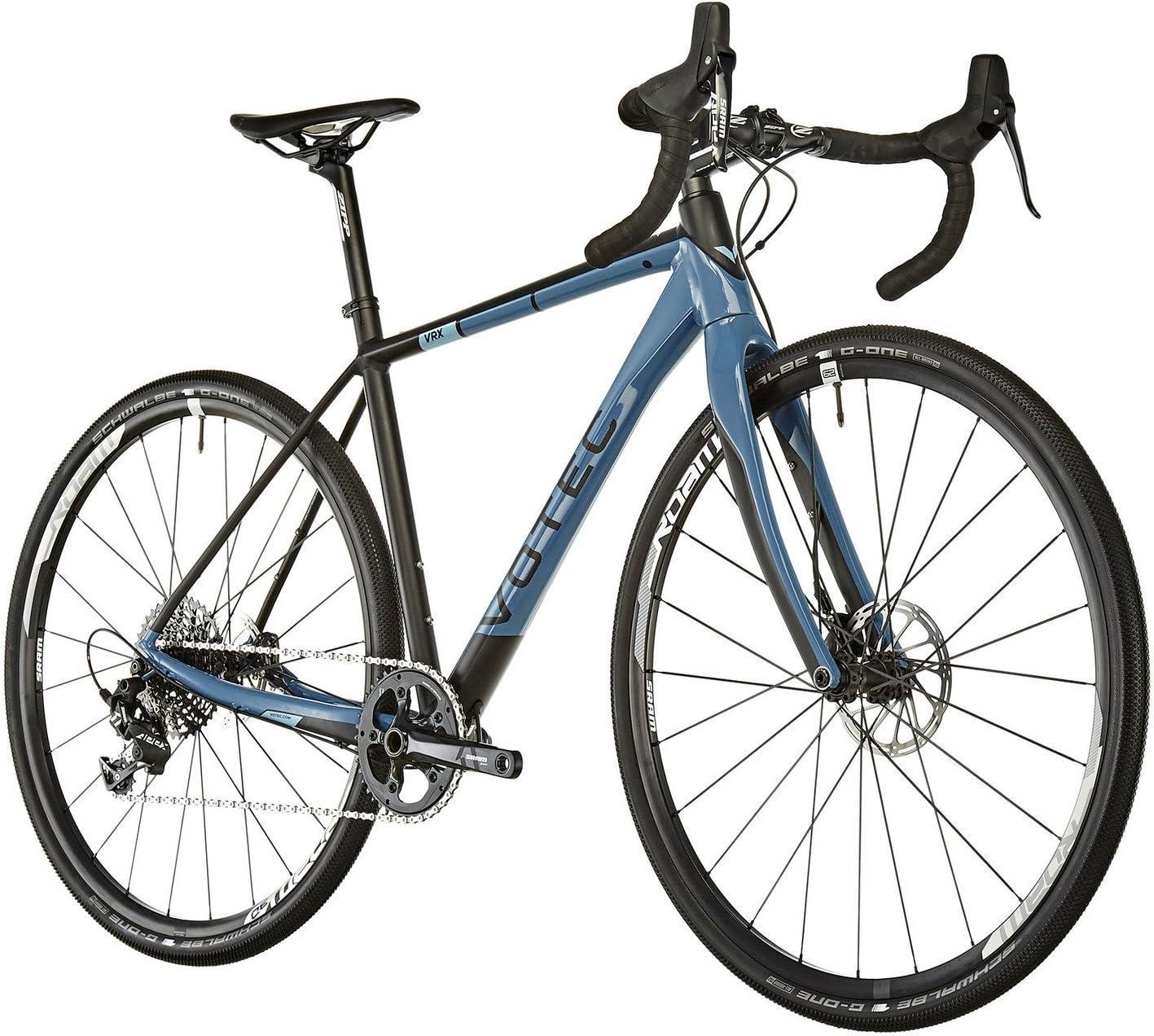 VOTEC VRX Comp - Bicicletas Gravel- Negro/Azul petróleo Tamaño del Cuadro XS / 44cm 2019 Bicicletas ciclocross: Amazon.es: Deportes y aire libre