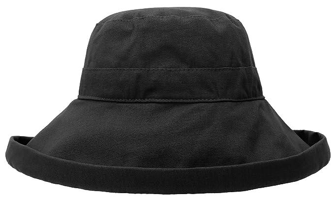 TAUT Women s Solid Roll up Wide Brim Cotton Garden Bucket Hat 204521685f49
