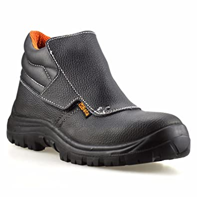 e360b052b6a Mens Leather Waterproof Welders Safety Steel Toe Cap Work Ankle Boots Shoes