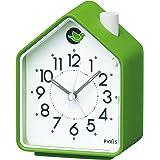 Analog Alarm Clock Chirping Bird Green NR434M by Seiko