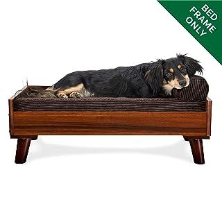 Furhaven Pet Dog Bed Frame | Mid-Century Modern Style Bed Frame Furniture for Pet Beds & Mattresses, Walnut, Medium