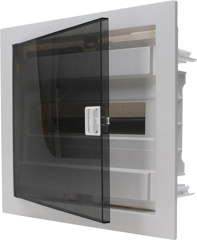 para 12/Pole /Caja de distribuci/ón con Puerta de pl/ástico de 1/Fila 346001004 Kopp rasante/ Gris//Negro 1/Pieza