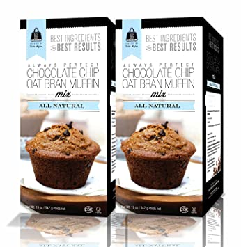 Amazon Com All Natural Chocolate Chip Oat Bran Muffin Mix