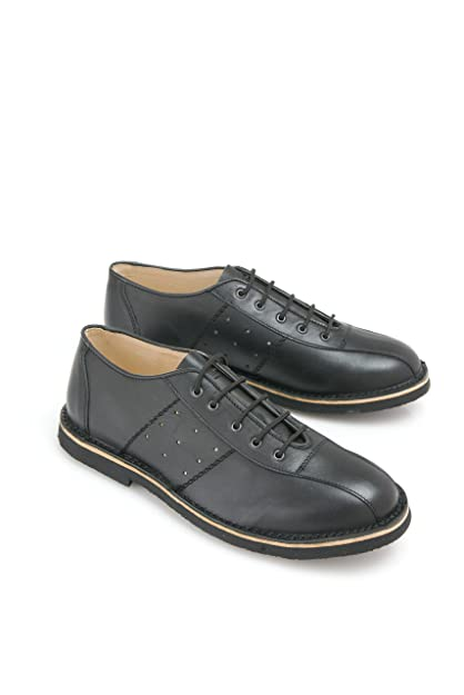 90296b7e82a05 Ikon Marriott Black Casual Leather Swinging 60s When mods Rocked Bowling  Shoes