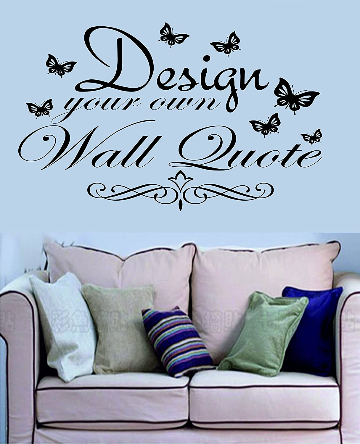 design your own wall quote cm x cm in any colour amazon co