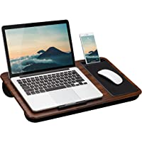 LapGear Home Office Lap Desk with Device Ledge, Mouse Pad, and Phone Holder - Espresso Woodgrain - Fits Up to 15.6 Inch…