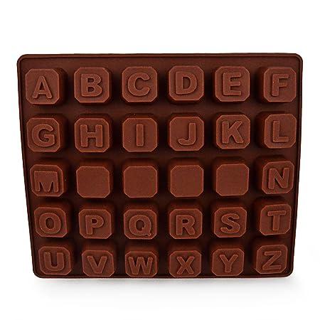 Silicona - forma con cartas, para escarbar-los aficionados, para lectura el aprendizaje o de para el cumpleaños de los niños para hornear y como ...