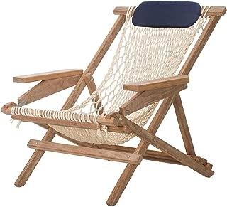 product image for Nags Head Hammocks Cumaru Captain's Chair, Oatmeal DuraCord