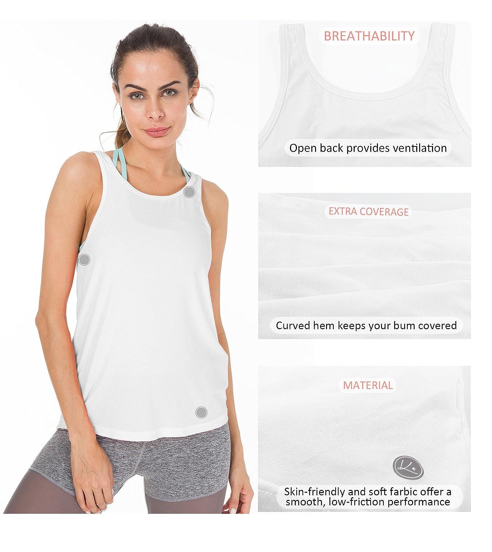 Queenie Ke Womens Yoga Shirts Sports Tops Super Soft Open Back Tank ...