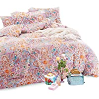 Bohemian Quilt Cover Set - by Wake In Cloud, 100% Cotton Doona Cover Bedding, Boho Chic Mandala Printed (3pcs, King Size…