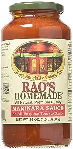 Raos Specialty Food Homemade Marinara Premium Pasta Sauce, 24 Ounce -- 12 per case.