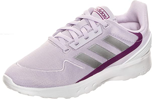 Adidas NEBZED K, Zapatillas Running Unisex Adulto, Morado (Purple Tint/Matte Silver/Glory Purple), 39.33 EU: Amazon.es: Zapatos y complementos