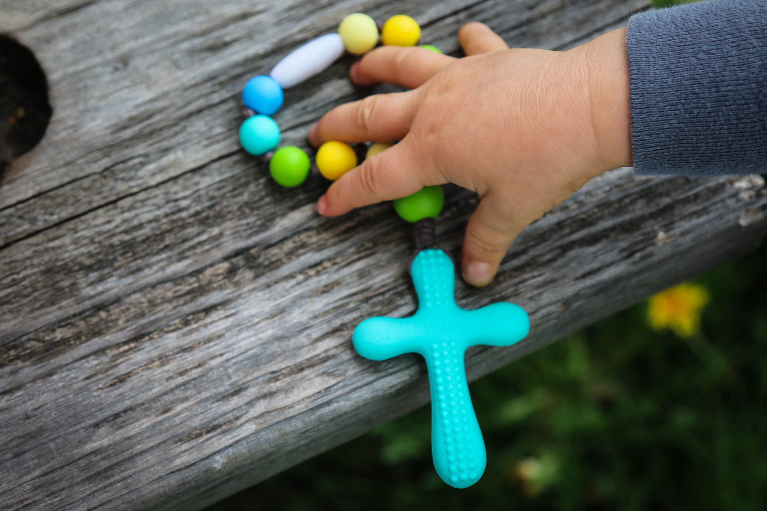 Chews Life Decade Rosary | Little One Decade RosarySilicone Teething Rosary | Boys' or Girls' Baptism or Mass Toy by Chews Life (Image #2)